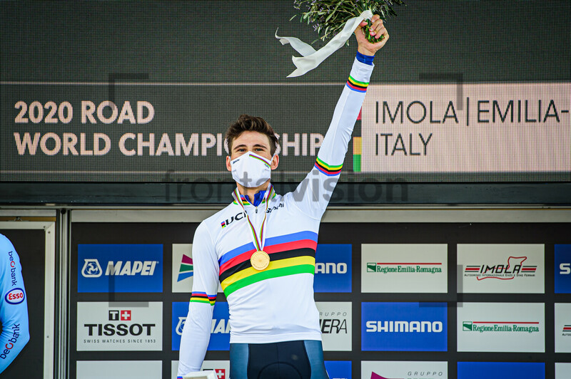 Filippo Ganna won Individual Time Trail 2020 UCI Road Cycling World Championships