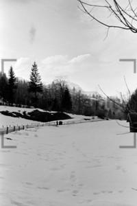 Winterspaziergang bayerische Alpen