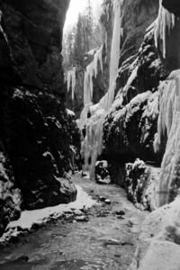 Höllentalklamm, Hammersbach im Winter 1956
