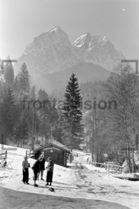Erfrischungshaus Alpspitze Waxenstein Grainau 1956