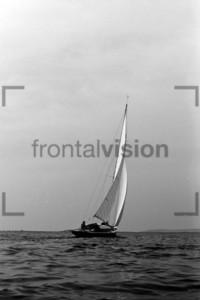 Rennjolle Segelkanu Fünferl Hiddensee 1956