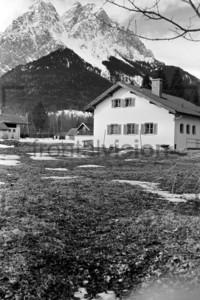 Alpspitze, Waxenstein, Zugspitze Grainau 1956
