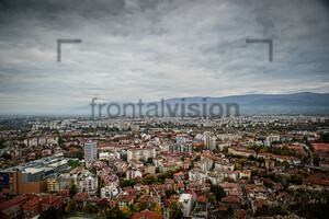 View on Plovdiv from hill