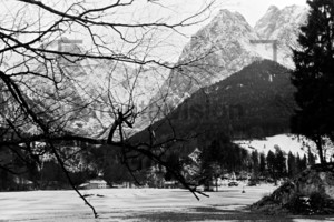 View on Alpspitze Waxenstein Zugspitze