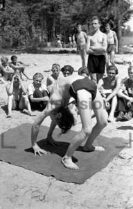 Sport am See Strand 1953