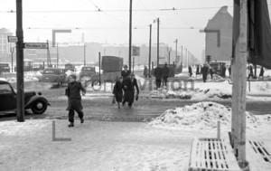 Kreuzung Warschauerstr Stalinallee | Crossing Warschauerstr Stalinallee