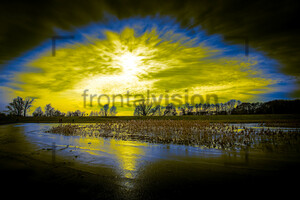 Sonnenuntergang im Oderbruch Brandenburg