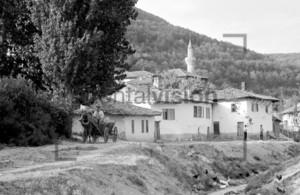 Bulgarisches Dorf mit Moschee und Pferdefuhrwerk | Old bulgaria village with mosque and horse cart