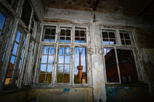 Schornstein mit Hochbehälter Heilstätte Grabowsee - Lung sanatorium Grabowsee