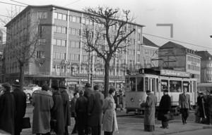 Bonn Bahnhof Straßenbahn 1955