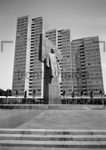 Statue of Vladimir Lenin East Berlin 1970: Historical Image