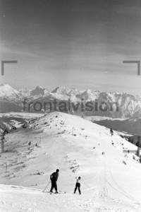 Ski fahren Alpen Berg Wank 1956