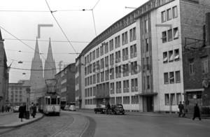 Köln Dom Straßenbahn Linie 5 1955