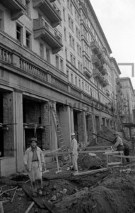 Bau der Stalinallee Ostberlin Building Stalinallee East Berlin