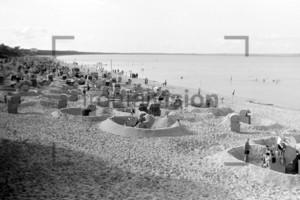 Strand von Binz Rügen 1956