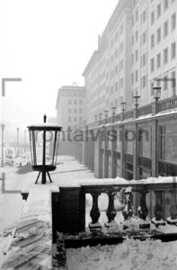 Fassade Stalinallee Block C Berlin Winter 1952