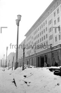 Stalinallee Block C Berlin Winter 1952