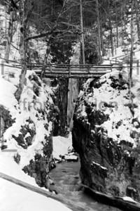 Höllental, Hammersbach im Winter 1956
