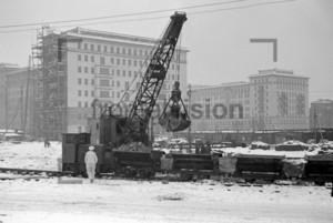 Bau der Stalinallee Ostberlin | Building Stalinallee East Berlin