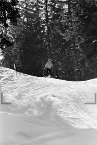 Skifahren Alpen 1956