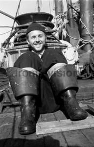 Matrose Fischer lacht in die Kamera | Fisherman laughing