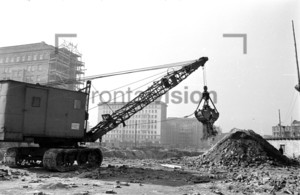 Aufbauarbeiten Stalinallee 1953