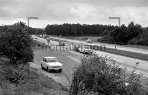 Autobahn in the GDR 1972: Historical Image