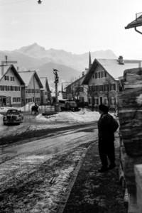 Floriansplatz Floriansbrunnen Garmisch-Partenkirchen 1956