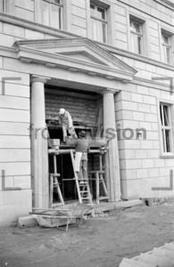 Arbeiten am Block E Stalinallee Ostberlin 1951