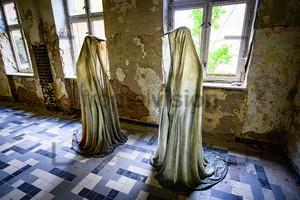 Gruselig Figur Heilstätte Grabowsee - Lung sanatorium Grabowsee