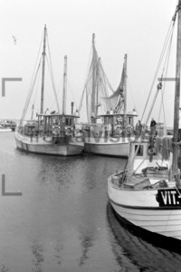 Hafen Vitte Hiddensee Fischerboote 1956