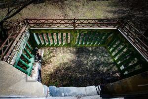 Eingestürzter Balkon Heilstätte Grabowsee - Lung sanatorium Grabowsee