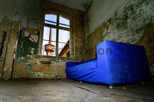 Blaues Sofa Heilstätte Grabowsee - Lung sanatorium Grabowsee