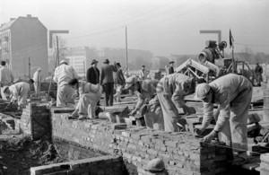 Bau der Stalinallee, Bauarbeiter, Handwerker 1953