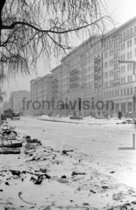 Stalinallee Berlin Winter 1951 Block E Südseite