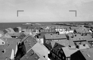 View over Helgoland harbour 1959