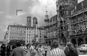 München Rathaus Marienplatz 1974 | Marienplatz and New Town Hall Munich 1974