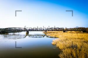 Railway Bridge Küstrin Oder Germany Poland