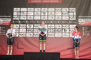 HINZE Emma, MORTON Stephanie, VAN RIESSEN Laurine: UCI Track Cycling World Cup 2018 – London