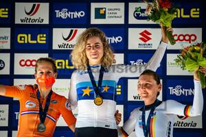 VAN DIJK Ellen, REUSSER Marlen, BRENNAUER Lisa: UEC Road Cycling European Championships - Trento 2021