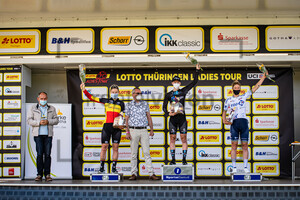 KREUCH Kurt, KOPECKY Lotte, WIEBES Lorena, FAHLIN Emilia: LOTTO Thüringen Ladies Tour 2021 - 6. Stage