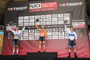 GLAETZER Matthew, LAVREYSEN Harrie, HOOGLAND Jeffrey: UCI Track Cycling World Cup 2018 – London