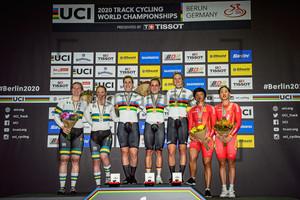MORTON Stephanie, McCULLOCH Kaarle, GRABOSCH Pauline Sophie, HINZE Emma, FRIEDRICH Lea Sophie, CHEN Feifei, ZHONG Tianshi: UCI Track Cycling World Championships 2020