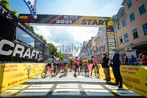 HAMMES Kathrin, LIPPERT Liane, FAULKNER Kristen, KOPECKY Lotte, BRAND Lucinda, NORSGAARD JØRGENSEN Emma Cecilie: LOTTO Thüringen Ladies Tour 2021 - 5. Stage