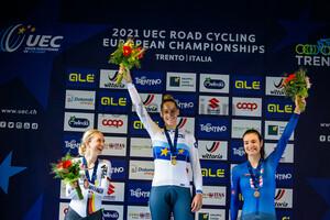LUDWIG Hannah, GUAZZINI Vittoria, PIRRONE Elena: UEC Road Cycling European Championships - Trento 2021