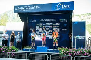 NIEDERMAIER Antonia, IVANCHENKO Alena, UIJEN Elise: UEC Road Cycling European Championships - Trento 2021