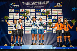 SIMON Jette, EBERLE Lana, COUZENS Millie, BACKSTEDT Zoe, VEENHOVEN Nienke, VAN DER MOLEN Yuli: UEC Track Cycling European Championships (U23-U19) – Apeldoorn 2021