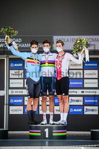 VAN AERT Wout, GANNA Filippo, KÜNG Stefan: UCI Road Cycling World Championships 2020