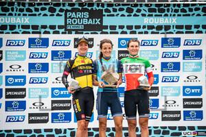 VOS Marianne, DEIGNAN Elizabeth, LONGO BORGHINI Elisa: Paris - Roubaix - Femmes