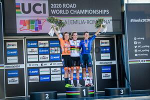 VAN VLEUTEN Annemiek, VAN DER BREGGEN Anna, LONGO BORGHINI Elisa: UCI Road Cycling World Championships 2020